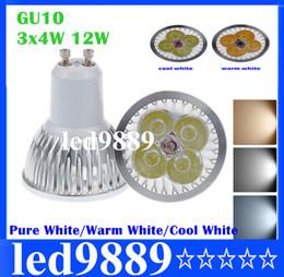 Color Energy Saving Bulb NZ - Dimmable LED Lamp AC DC12V MR16 12W Spotlight Bulb 4-LED COOL WARM NATURE White Color Spot Light Energy Saving Bulbs FREE SHIPPING