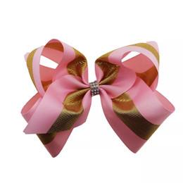 $enCountryForm.capitalKeyWord NZ - 20pcs 8 Inch Pink Jojo Bows Christmas Children Hair Accessories Jojo Siwa Style Hair Bow Xmas Large Jojo Bow Valentine Hair Accessories