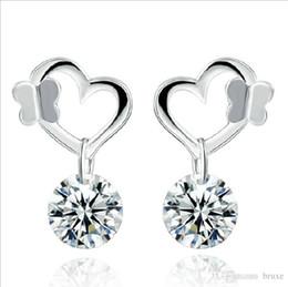$enCountryForm.capitalKeyWord Canada - Explosion models silver butterfly earrings female earrings female Korean Korean fashion jewelry cute earrings diamond ear