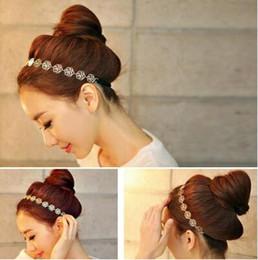 $enCountryForm.capitalKeyWord NZ - 2 PCS Girls Womens Fashion Metal Chain Jewelry Hollow Rose Flower Elastic Headband Hair Band Accessories