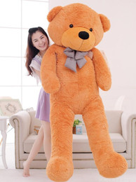 "$enCountryForm.capitalKeyWord Canada - TEDDY BEAR STUFFED LIGHT BROWN GIANT JUMBO 72"" size:160cm birthday gift Right-angle measurements Plush SOFT toys"