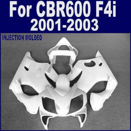 F4i Fairings Australia - ABS plastic Injection for HONDA CBR 600 F4i white custom fairing 01 02 03 CBR600 F4i 2001 2002 2003 fairing kits CICD