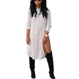 Discount Sexy White Button Down Shirts Women   2017 Sexy White ...