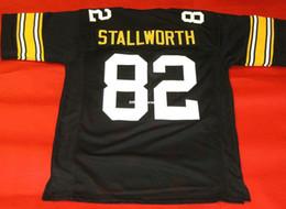 06792f5aa Cheap retro  82 JOHN STALLWORTH CUSTOM MITCHELL   NESS Jersey black Mens  Stitching Retro Size S-5XL Football Jerseys Running