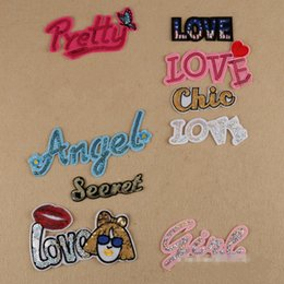 Embroidered iron on Letters Applique Patch,Iron On Name Letters Patch for  T-Shirt