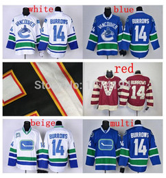... Discount Vancouver Canucks 14 Alex Burrows Hockey Jersey Home Blue Away  White Black Red Fashion 100 ... dbd06f177