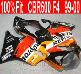 99 cbr f4 fairings repsol Australia - High Quality red bodywork for Honda REPSOL fairing CBR600 F4 99 00 CBR 600 F4 fairings kit 1999 2000 VROB