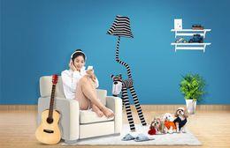 $enCountryForm.capitalKeyWord Canada - 125cm fabric dimensional cartoon lamp creative bedroom living room children's room bedside pastoral cat-type floor lamp table lamp modern