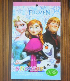 Frozen Stickers Cartoon Coloring Book Drawing With Children Gift 6 Edition Lot Size2012cm H0588a