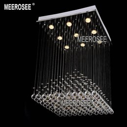 light fixture pyramid shape lustres lamp crystal light for stair foyer hallway ready stock w 600mm modern squared shaped crystal chandeliers on sale