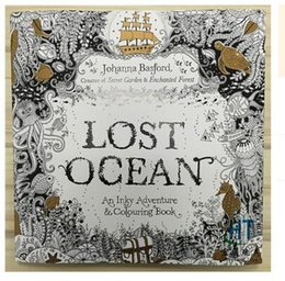 Newest Lost Ocean Coloring Book An Inky Quest By Johanna Basford Christmas Toy Gifts Presents Free Shipping R1507