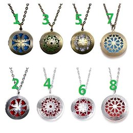 "$enCountryForm.capitalKeyWord Australia - Mixed order 4 style 24"" With Chain Pads Round Aromatherapy Lockets Pendants Perfume Essential Oil Diffuser Locket Necklace"