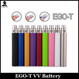 Wholesale Ego T Clearomizer Canada - EGO T Battery Electronic Cigarette Button Control Ego-T 510 Thread For CE4 CE5 CE6 clearomizer 650mah 900mah 1100mah 1300mah Various Colors