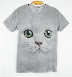 Hottest Design T Shirt NZ - FG1509 2015 Hot women men Wolf   Cat print short sleeve novelty 3d t shirt top Plus Size M L XL XXL design t shirts blouse tees animal