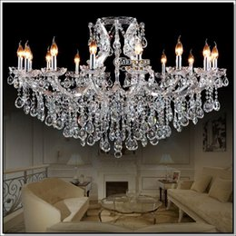 transparent large crystal chandeliers fixture hotel maria theresa crystal light for lobby foyer - Discount Chandeliers