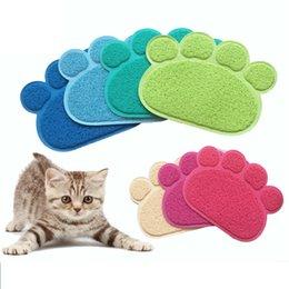 Nueva Mascota gato tapete de arena 14 colores gato precioso esteras de impresión de la pata esteras antideslizantes impermeables fuentes del gato IC863 en venta
