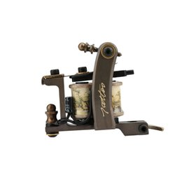 Machines À Tatouer Sur Mesure Pas Cher-New Arrival Custom Handmade Copper 8 Bobines Tattoo Machine Tattoo Gun Liner Body Art W1174