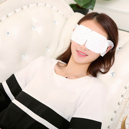 Al por mayor-Nueva llegada 1pc desechable Hot Steam Heat Eye Sleeping Mask Eye Patch Aliviar la fatiga ocular Sleep Blindfold
