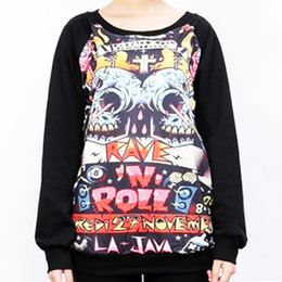 Female Skull Shirts Canada - New 2016 Fashion Brand Full Sleeve T shirt Women Top O-neck Skull Printed Casual Tops tee Femme Female T-shirt Hot selling