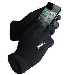 Wholesale-2 Stücke / Paar iGlove Screen Touch Handschuhe warme Unisex Handschuhe für iPhone / iPad / Samsung Tablet PC 3-Finger-Touchscreen-Handschuh