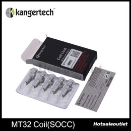 kanger protank atomizers Canada - Kanger Coil Unit MT32 Coil SOCC Coils Fit With Protank and Evod Atomizer With Janpanese Organic Cotton Wick 100% Authentic New Arrival