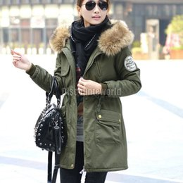 Ladies Khaki Parka Coat - Coat Racks