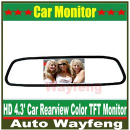 "$enCountryForm.capitalKeyWord Canada - High resolution 4.3"" Color TFT LCD Car Rearview Mirror Monitor 4.3 inch 16:9 screen DC 12V car Monitor for DVD Camera VCR M35735"