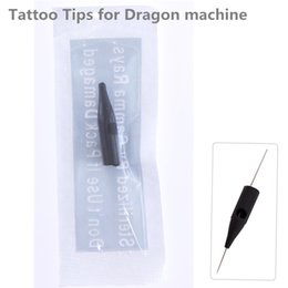 needles dragon machine Canada - 100pcs 1RL Permanent Makeup Tattoo Tips Pre-sterilized Disposable dragon machine side hole needle tips Supply Free Shipping