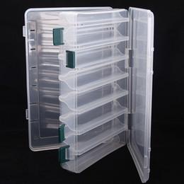 Grande doppio lato trasparente richiamo di pesca scatola di immagazzinaggio esche ganci tackle custodia impermeabile contenitore dell'organizzatore portatile in plastica