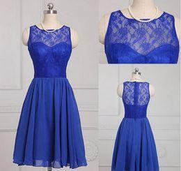 $enCountryForm.capitalKeyWord NZ - New Design Sleeless Lace Bridesmaids Dresses High Quality Jewel Neck Mini Cheap Chiffon Knee-length Bridesmaid Dress Free Shipping