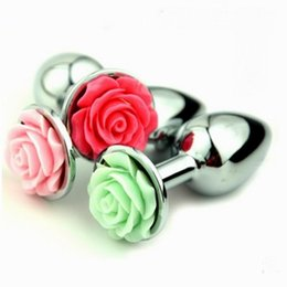 $enCountryForm.capitalKeyWord NZ - Random Colors,Metal Mini Anal Butt Plug Bullet Beads Adult Sex Toys Stainless Steel Anus Stopper+Rosebud anal Decorate sex products