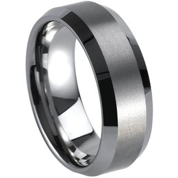 Men Size 15 Rings Australia - Size 7-15 Tungsten Carbide Ring Brushed Band Wedding Men Graduation School Cocktail Engagement