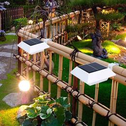$enCountryForm.capitalKeyWord Canada - Super Bright 4 LED Wall Light Solar Wall Lamp 4LED Solar Powered Light Outdoor Waterproof Garden Yard Light LED Floodlight Fence Lamp