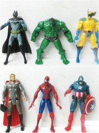 Marvel Heroes Toys Wholesale Canada - 2016 The Avengers Set of 6 pcs Marvel Hero Captain Iron Man the Hulk 15cm Action Figure Doll Toys Movie Cartoon