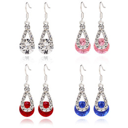Chinese  Earrings Crystal Drop Earrings Hot Sale Silver Dangle Chandelier Earring For Women Girl Party Fashion Jewelry Wholesale Free Shipping 0271WH manufacturers