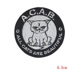 Machine eMbroidery patches online shopping - all cats are beautiful applique patches Embroidery Tomcat Embroidered Iron On Clothes Patch size cm ordering