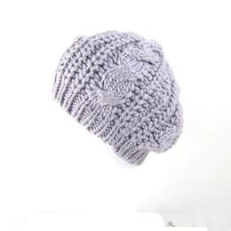 $enCountryForm.capitalKeyWord UK - Wholesale-Wholesale 2015 New Fashion Women's Beret Lady Braided Baggy Beanie Crochet Warm Winter Hat Ski Cap Wool Knitted Touca