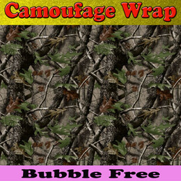 camouflage sticker roll NZ - Matt Realtree Camo Vinyl Wrap Car Wrap With Air Release Mossy oak real Tree Leaf Camouflage Autumn winter camo Foil Sticker 1.52 x30m Roll