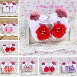Bottes Baby Girl Pas Cher Pas Cher-Gros-Cheap Baby Girl Flower Chaussures, Sapatos bébé, nouveau-né Bébés Chaussures, Petite Enfant Chaussures, Chaussure souple Fille, Bebe Bottes