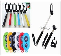 $enCountryForm.capitalKeyWord Canada - Extendable Handheld Monopod Selfie Stick + Bluetooth Remote Shutter Controller Self-timer for iPhone 6s Samsung S7 edge S6 Android IOS