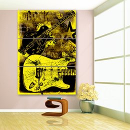art canvas prints Australia - 3 Panel HD Printed Framed Rock Guitar Graffiti Wall Canvas Art Modern Print Painting Poster Picture For Home Decor