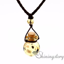 scent bottle pendant UK - aromatherapy jewelry scents perfume vials wholesale aromatherapy diffuser jewelry wholesale diffuser necklace vintage perfume bottle necklac