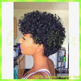 $enCountryForm.capitalKeyWord NZ - human hair curly wigs unprocess brazilian full lace human hair wigs curly 7A short bob wigs for black women in summer free ship
