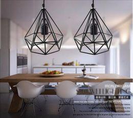 2016 Art Deco Vintage Pendant Lights LED Lamp Metal Cube Cage Lampshade  Lighting Hanging Light Fixture For Ktv Bart Art Lights