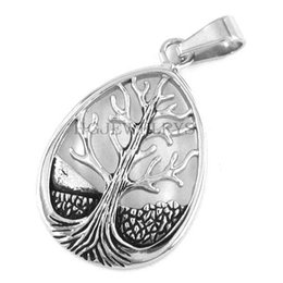 $enCountryForm.capitalKeyWord Canada - Free shipping! Celtic Knot Life Tree Pendant Stainless Steel Jewelry Claddagh Style Pendant Knots Mother Earth Root Pendant SWP0192HB