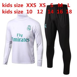 Meilleur Garçon De Costume Pas Cher-MEILLEURE QUALITÉ THAI 17 18 Real Madrid KIDS BOYS football chandail survêtement de football 2017 2018 KIDS costume de formation pantalon skinny Sportswear