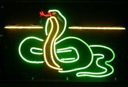 "custom neon commercial signs NZ - Hot Snake Neon Light Sign Commercial Custom Handmade Home Art Decoration Store Display Beer Bar Sign Real Glass Tube Neon Signs 17""X14"""