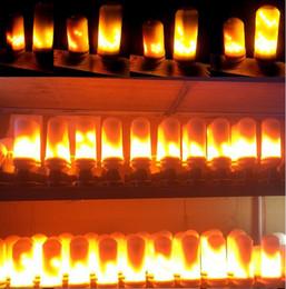 E27 Dynamic LED Chama Luzes de 3 Modos de Efeito de Fogo Lâmpadas de Natal Luzes Atmosfera Iluminação Lâmpadas de Fogo para o Feriado Do Partido venda por atacado