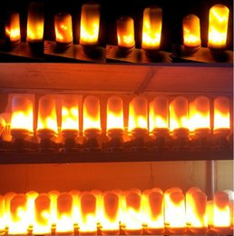 Wholesale E27 Dynamic LED Flame Lights Modes Effect Fire Light Bulbs Christmas Lights Atmosphere Lighting Fire Bulbs for Party Holiday