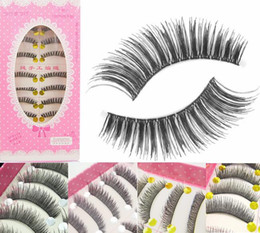 Packages Hair Boxes Canada - 5 Styles High Quality Japanese Brand 10 Pairs Box False Eyelashes with Beautiful Package Hand Made Makeup item